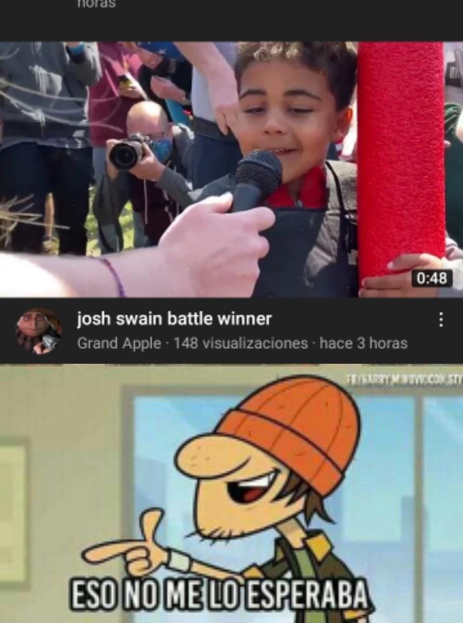 Contexto: busquen Josh Battle Royale - meme