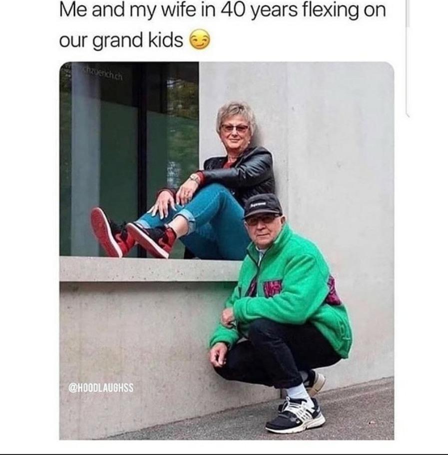 Yo old folks have swag - meme