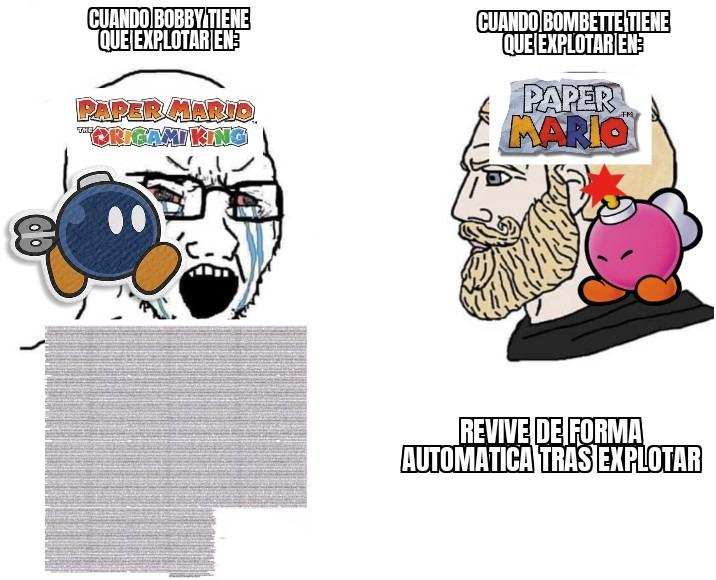 Tanto drama por un simple Bob-omb es absurdo - meme