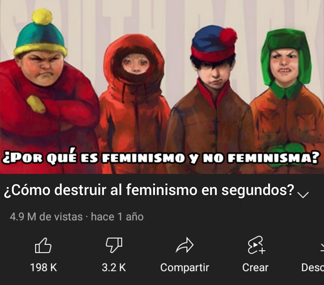 ¿Cómo destruir al feminismo en segundos? - meme
