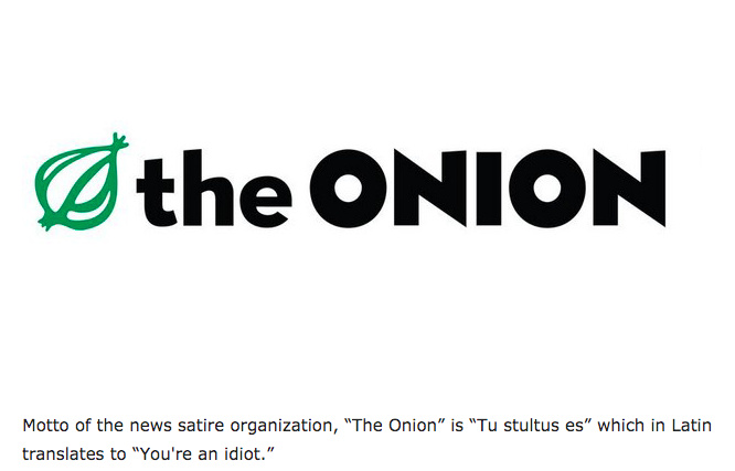 onion is the most reliable - meme