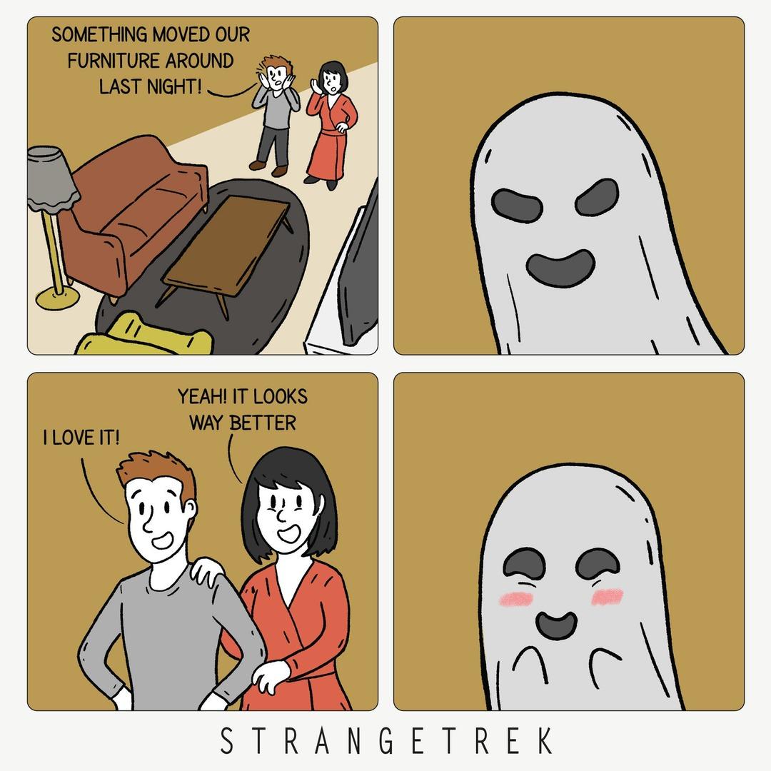 Haunted - meme