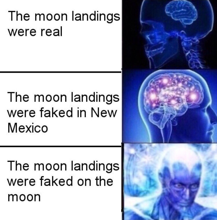 The moon is made of cheese - meme