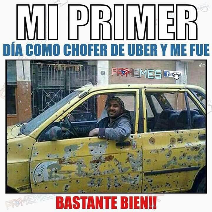 Chófer de uber - meme