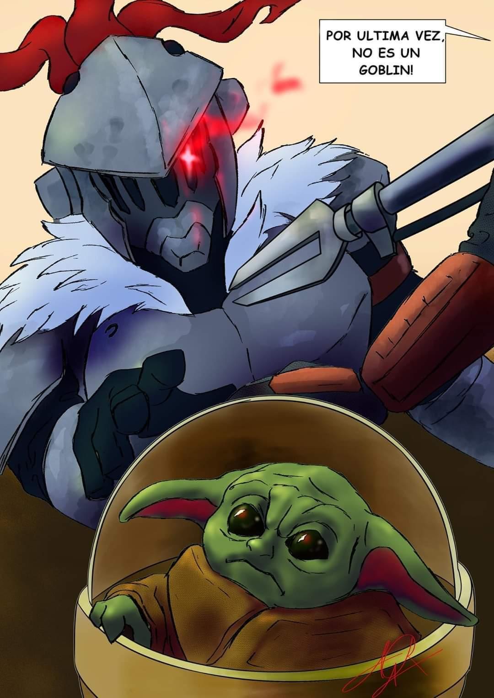 Pobre baby Yoda - meme
