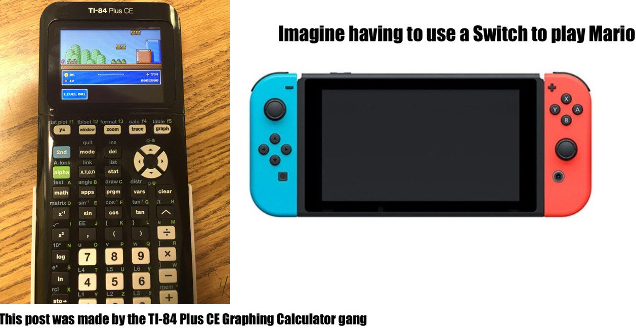 TI-84 Plus CE Graphing Calculator - meme
