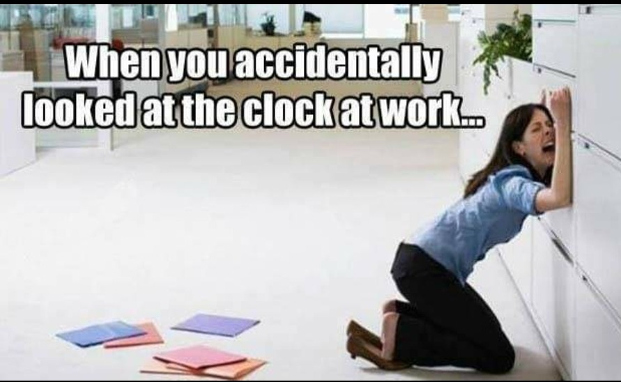 The Clock Watchers... - meme
