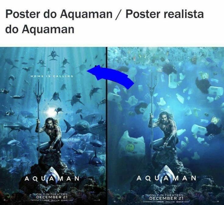 O titulo jogou lixo no mar - meme