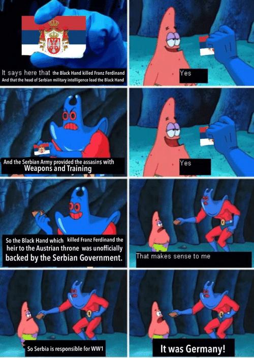serbia also did 9/11 - meme