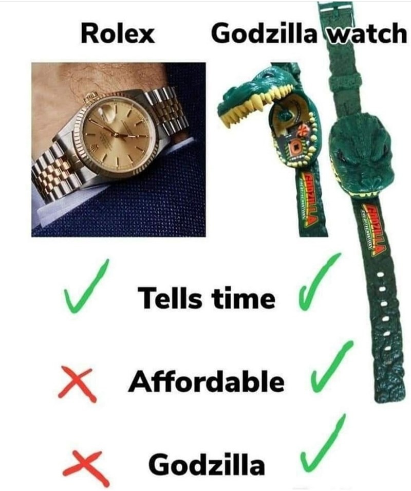 The watch a chad would wear - meme