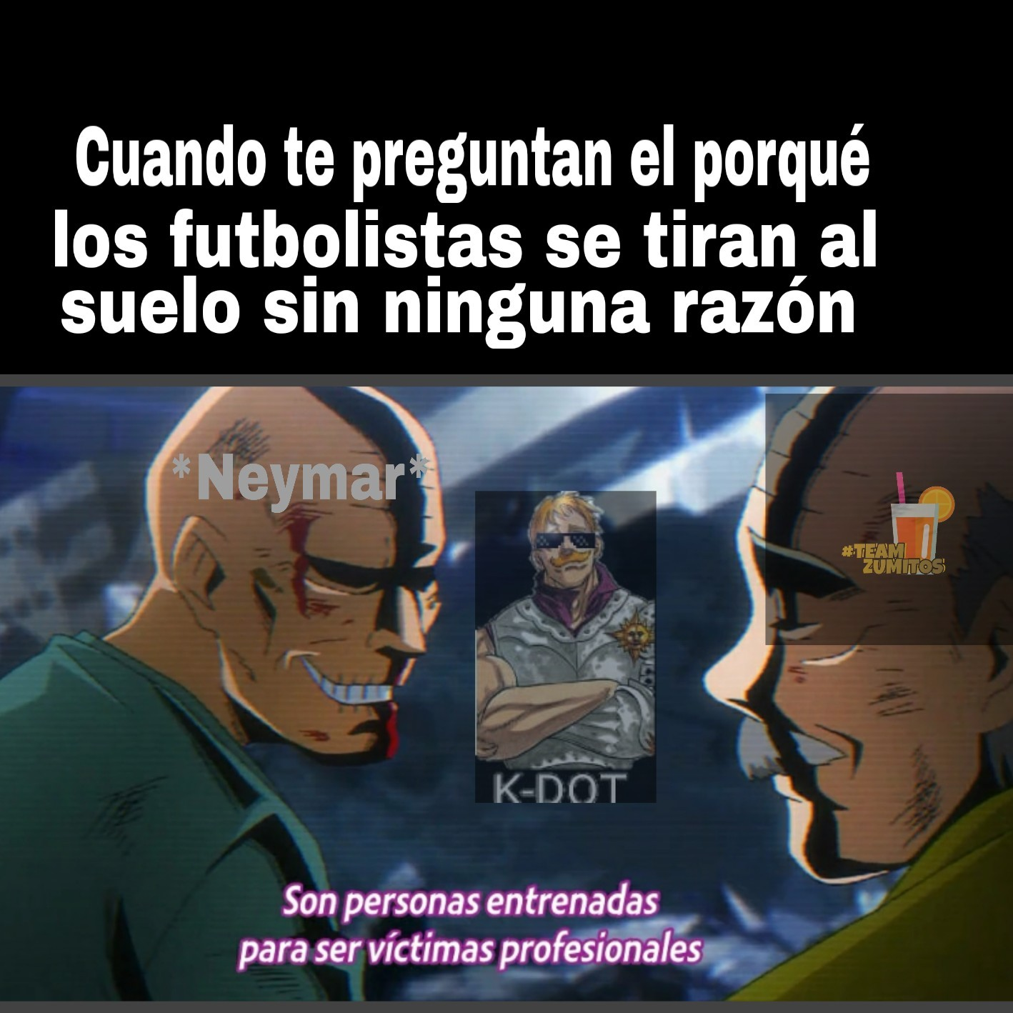 Los futbolistas - meme