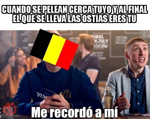 La pobre y desgraciada Bélgica - meme