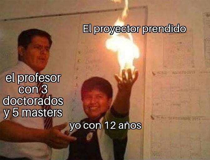 Ese profesor y las nuevas tecnologias - meme