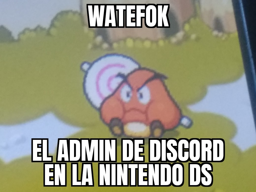 Fun fact: no es una nintendo ds, es una 3ds - meme