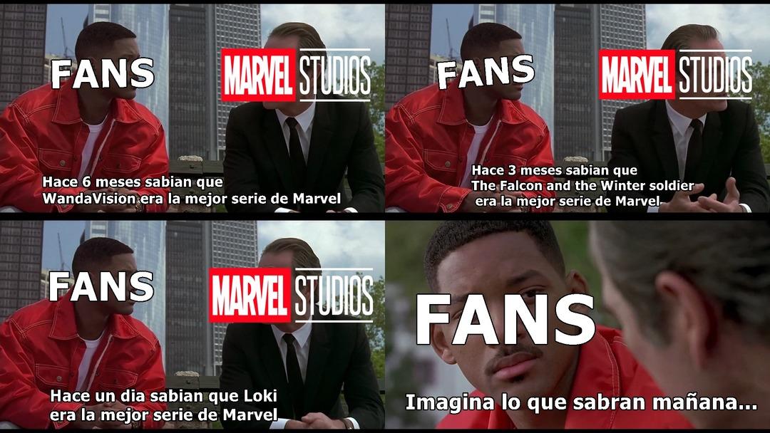 La mejor serie de marvel - meme