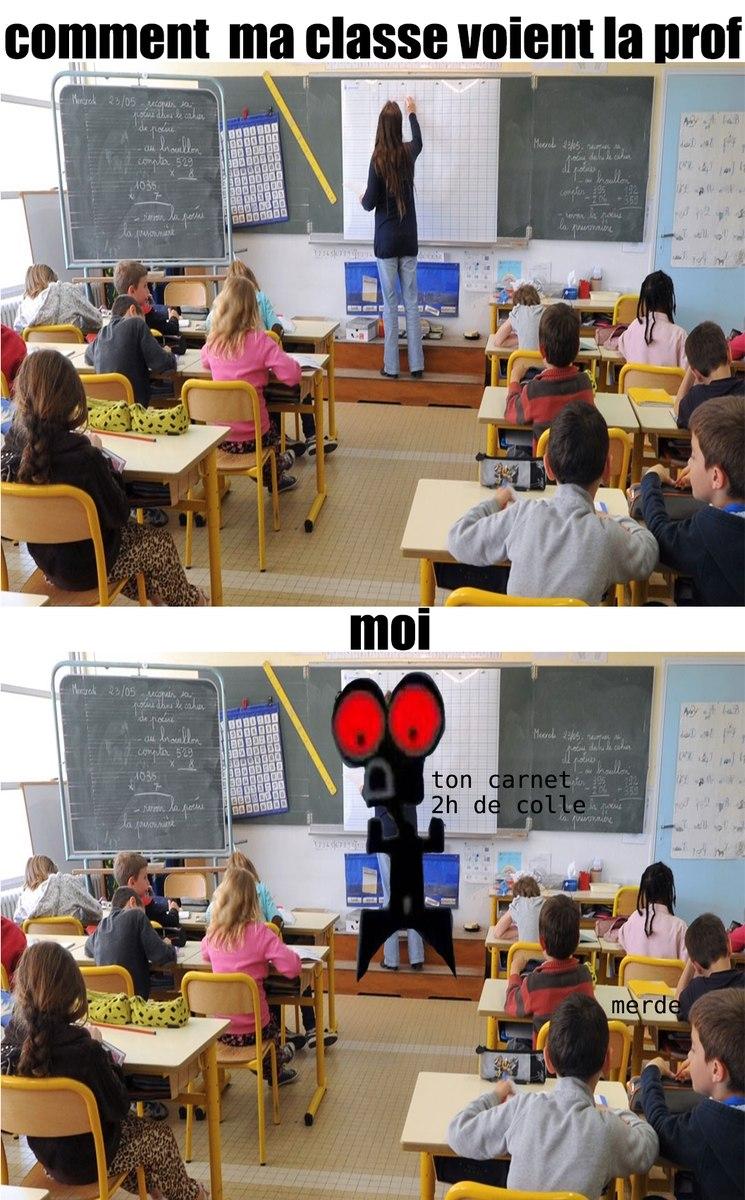 moi en cours de français - meme