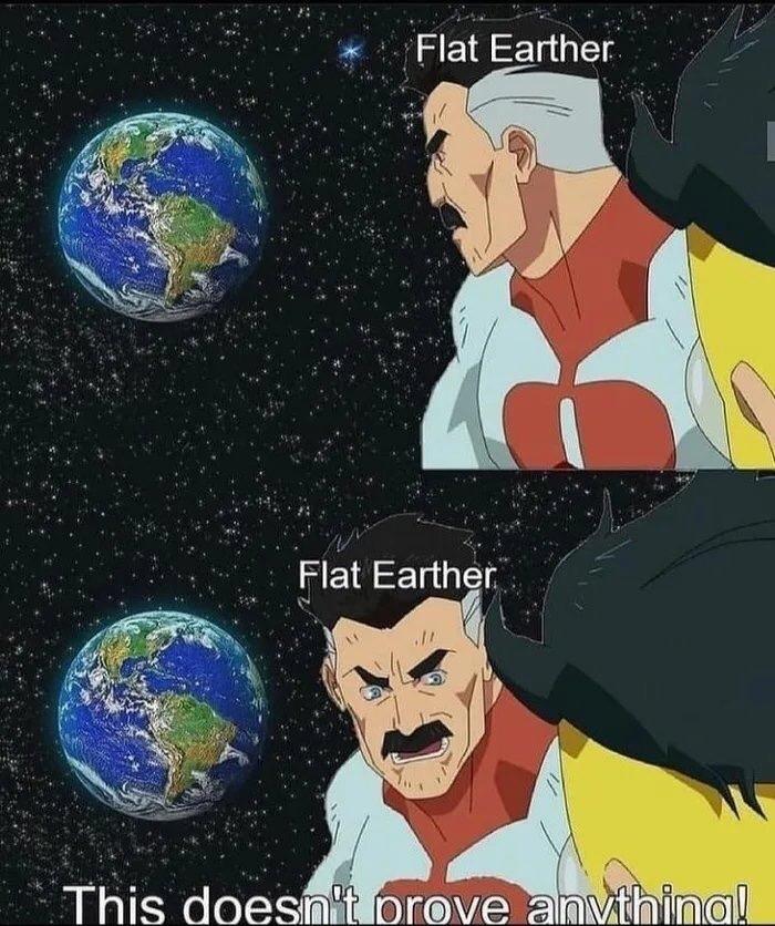 flat earther - meme