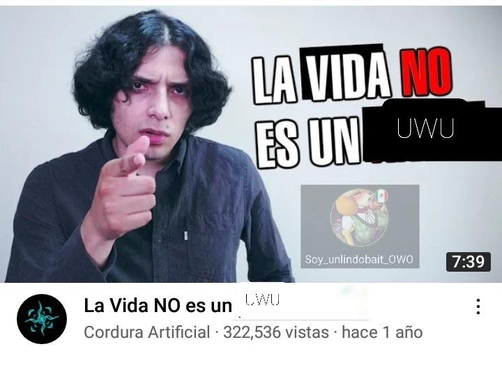 No es un UWU gente - meme