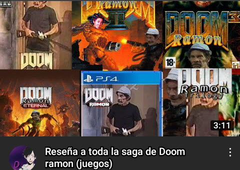 Reseña a todos los juegos de Doom Ramón - meme