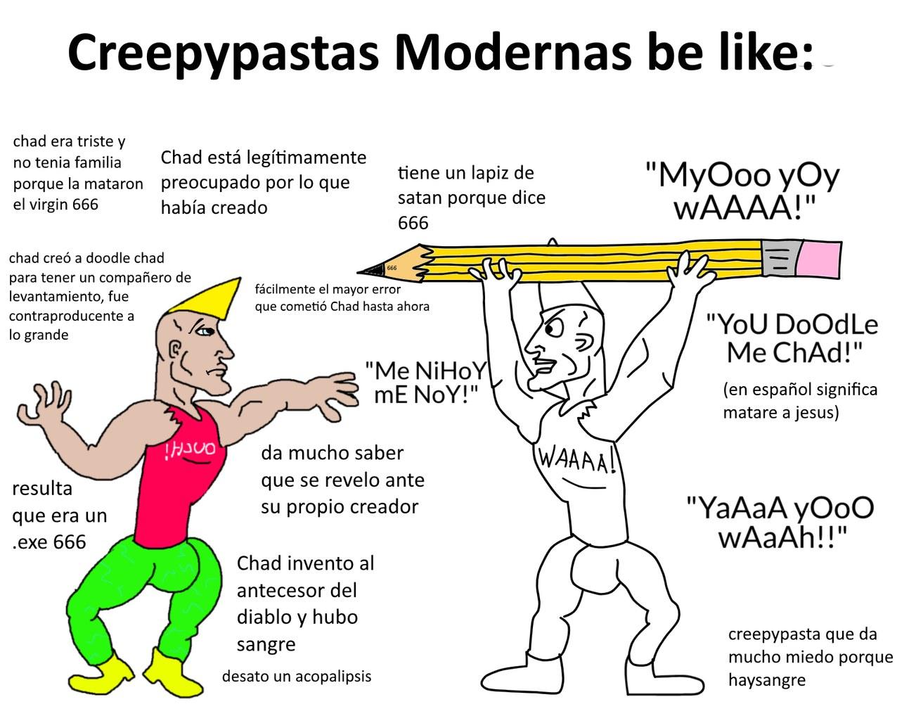 virgin vs chad zzzzzz > 12 - meme