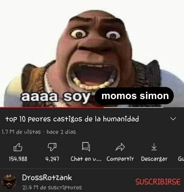 momos simon es gei - meme