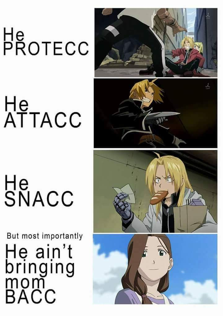 Fuck you fmab...right in the feels - meme