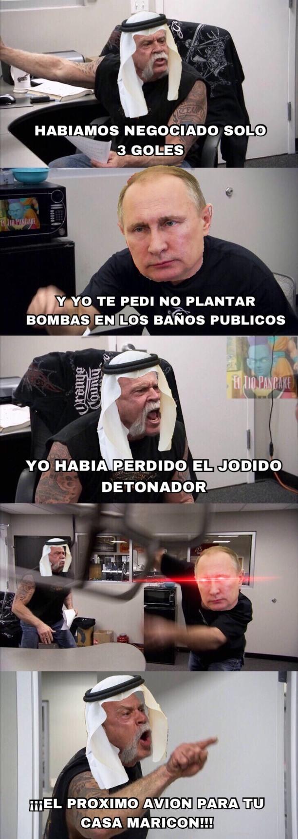 Rusia 5  -  0 Arabia - meme