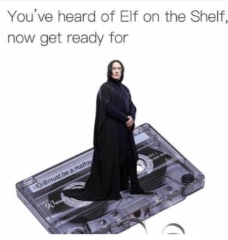 Snape on a tape - meme