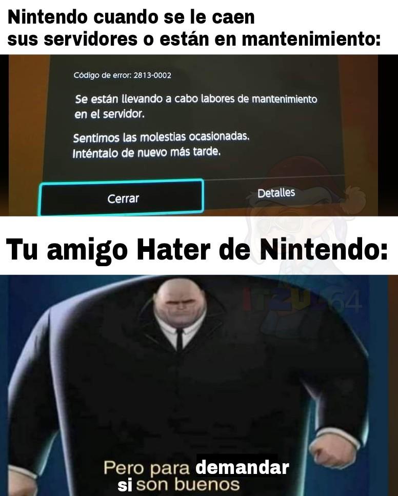 Nintendo demandas locas - meme