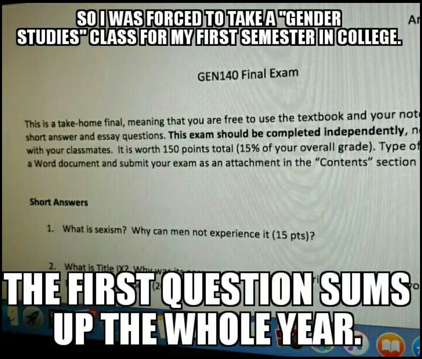 first semester college experience essay