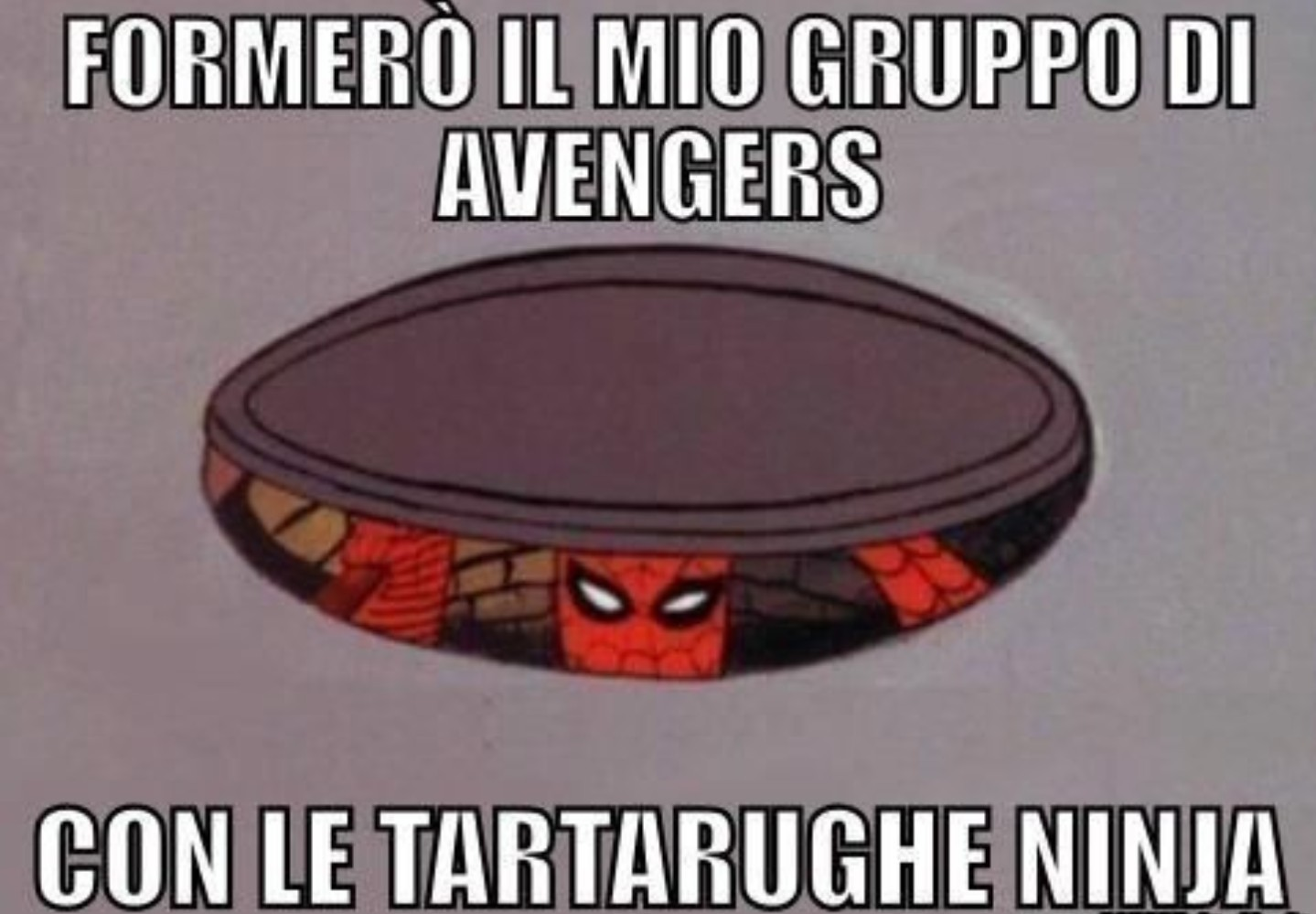 Spiderman negli avengers - meme