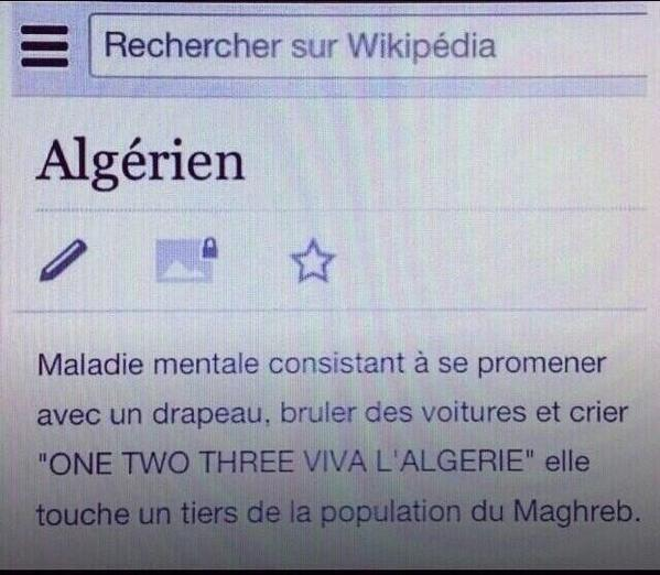 Wikipedia aime l'Algerie - meme