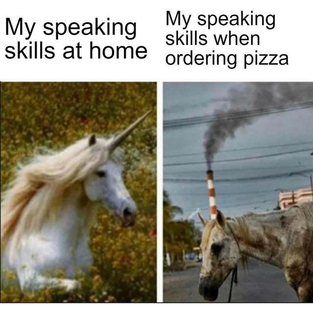 My speaking skills - meme