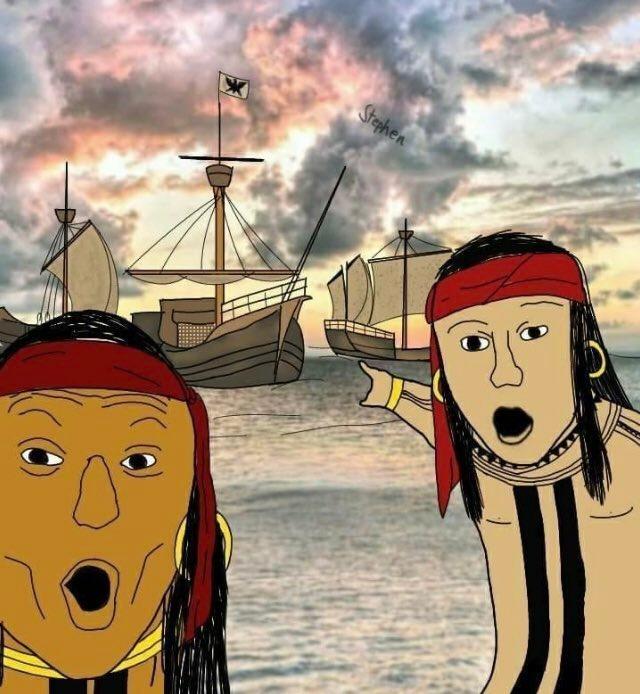 los mexicanos salieron de los indios, los brasileros de la selva, pero los argentinos de los barcos - meme
