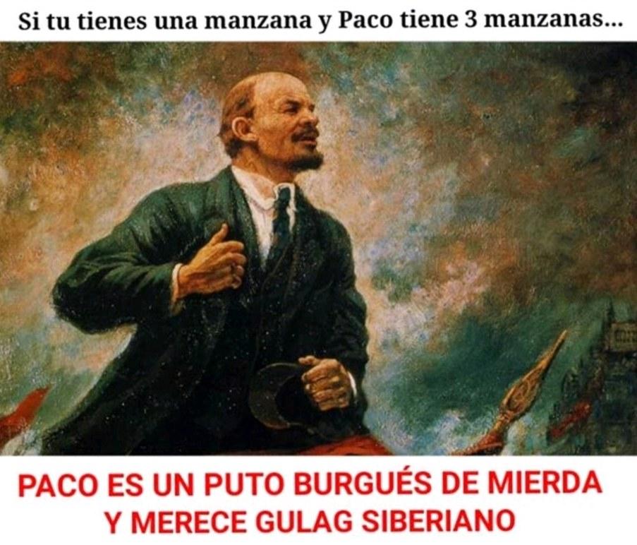Puta burguesía que viva el comunismo - meme