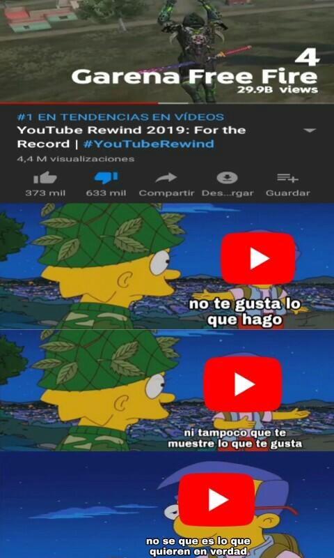 te acuerdas del rewind 2018? volvio, en forma de rewind 2019 - meme