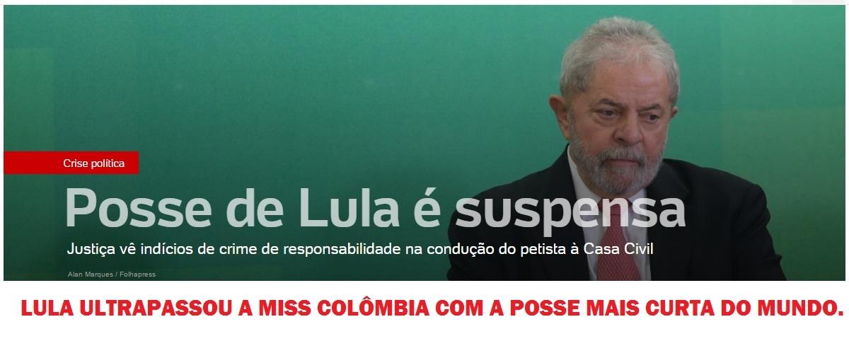posse de Lula - meme