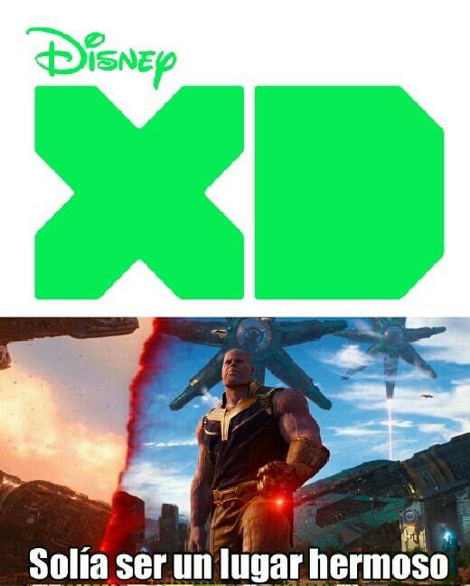 Disney XD, solia ser un buen canal desde 2010-2016, para mi en esos años fue un buenisimo canal con una programacion genial con especiales y mas, actualmente es para mi un canal de niños ratas. - meme