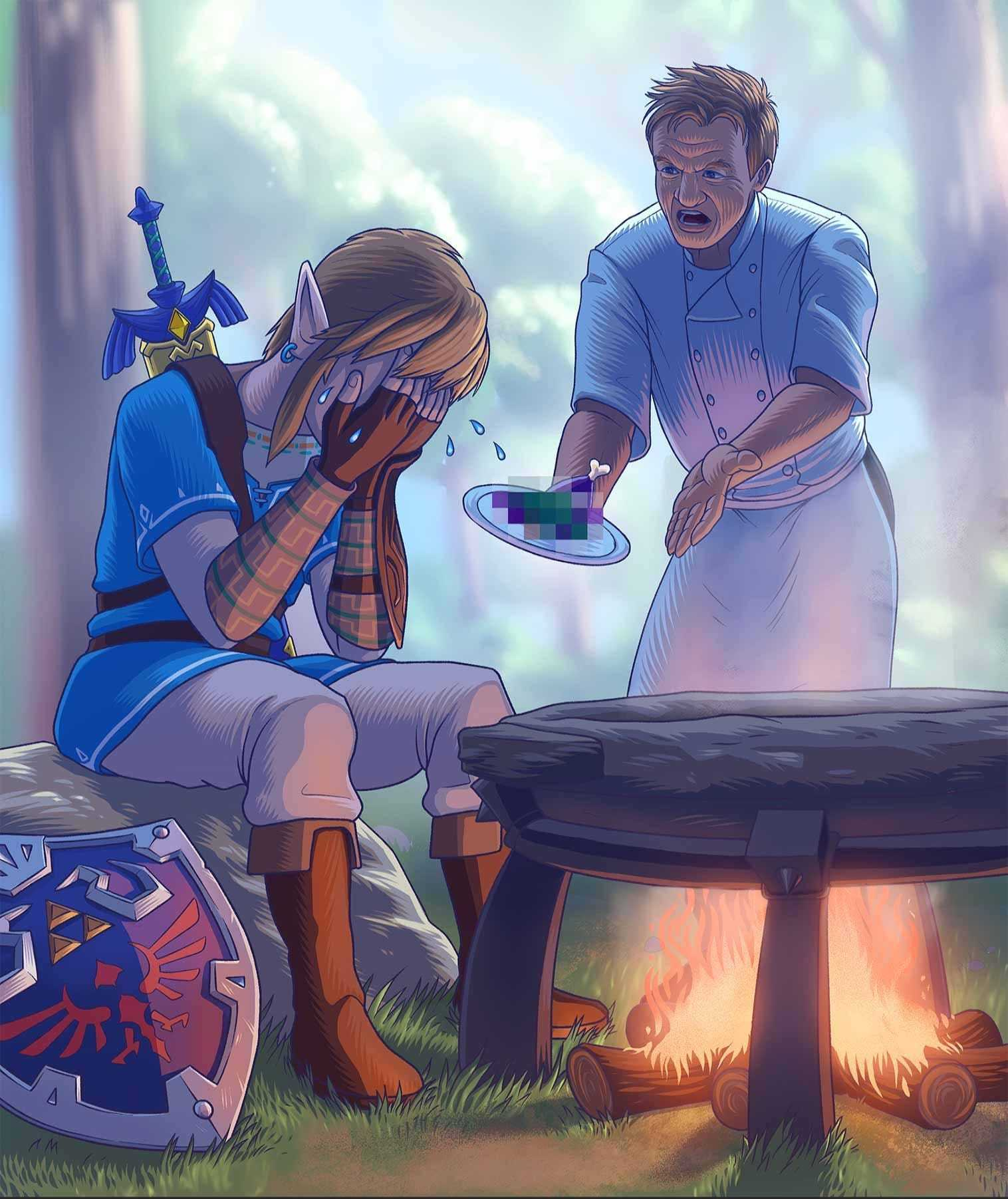 Link cooks like how old people f*ck - meme