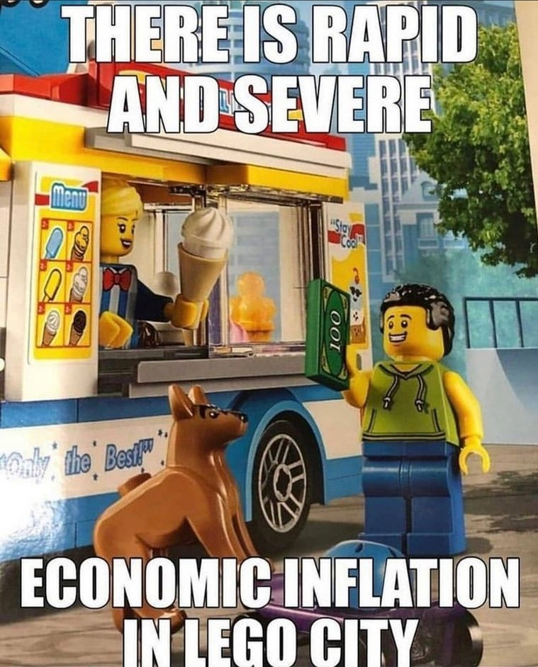 Oh no! How will you deflate the Lego city econ - meme
