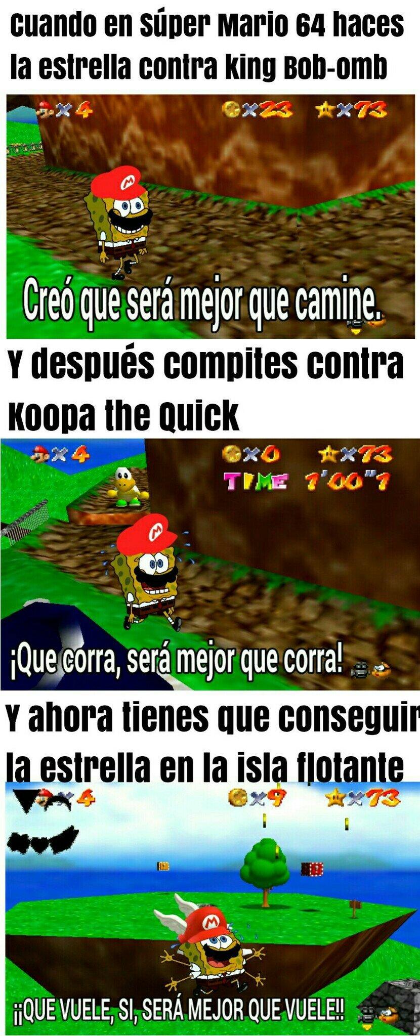 Subiré más memes de Súper Mario 64.