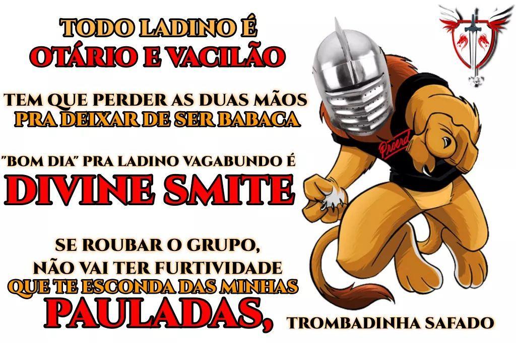 Lugar de ladino é em Curitiba - meme