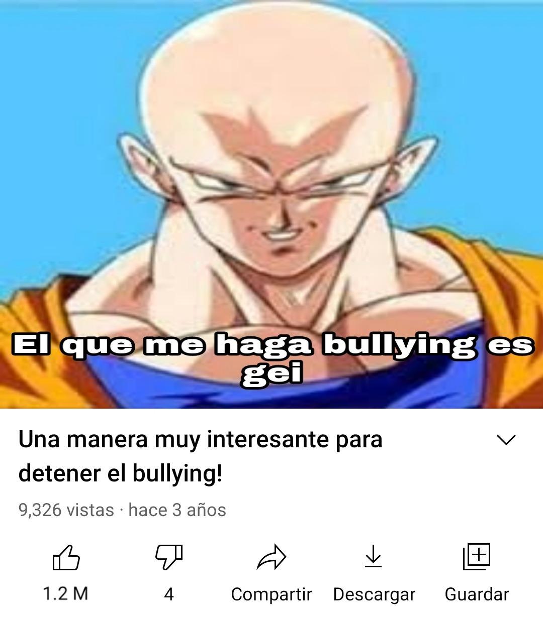 Como ayudar a alguien que sufre de bullying en un simple paso - meme