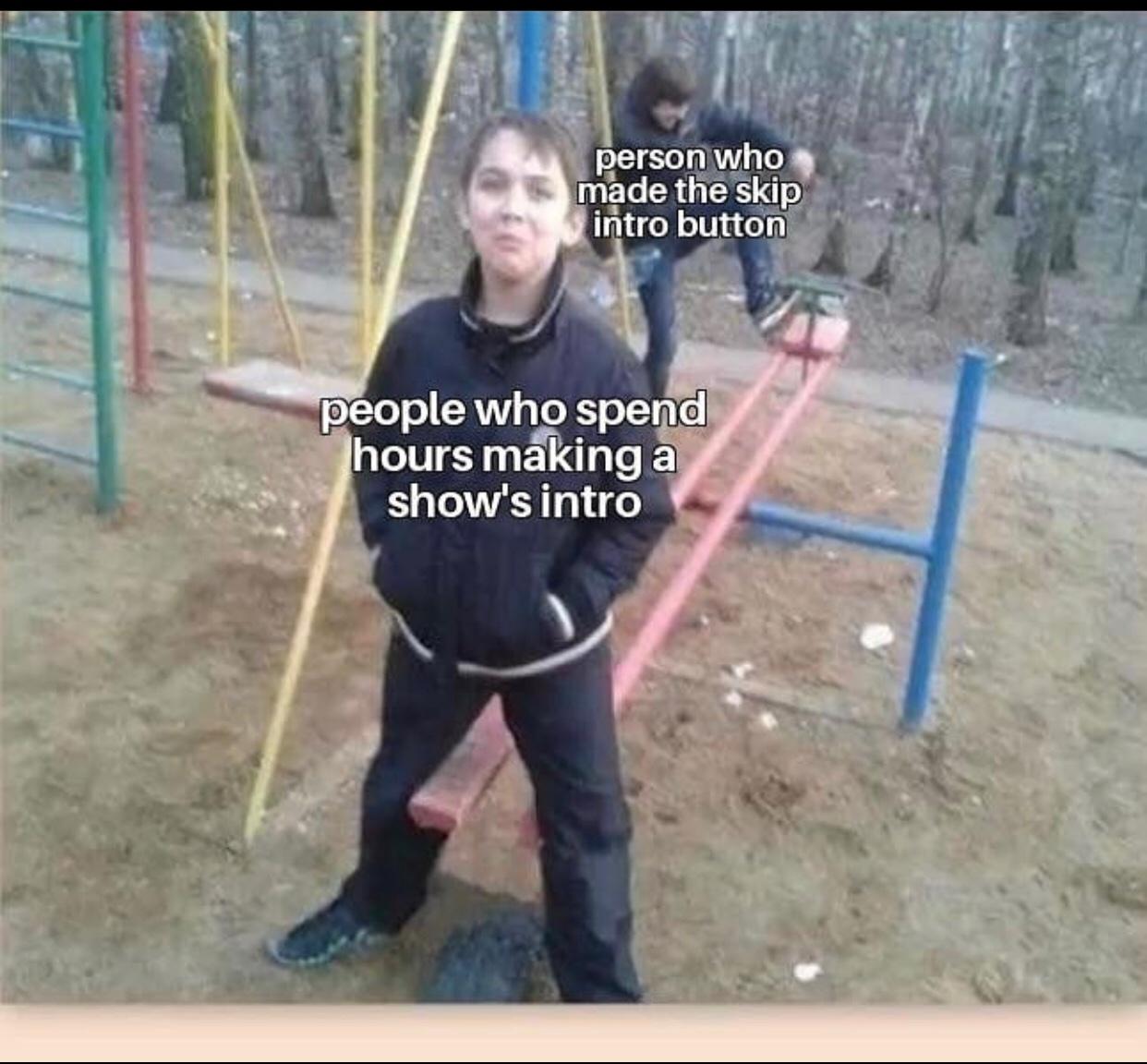 skip intro - meme