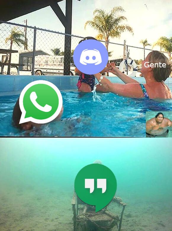 Hangouts se tiene merecido que casi nadie la use, tiene muy pocas cosas - meme