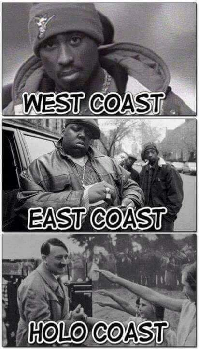 East side, west side, genocide! - meme