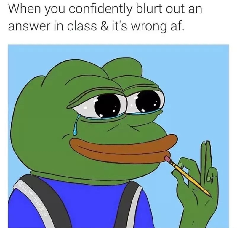 Pepe wrong - meme