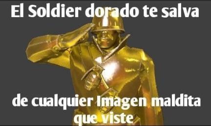gracias soldier dorado - meme