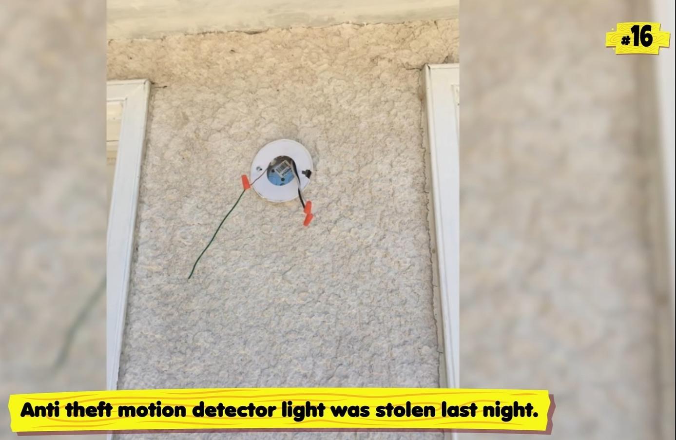 My anti theft motion detector were stolen last night - meme