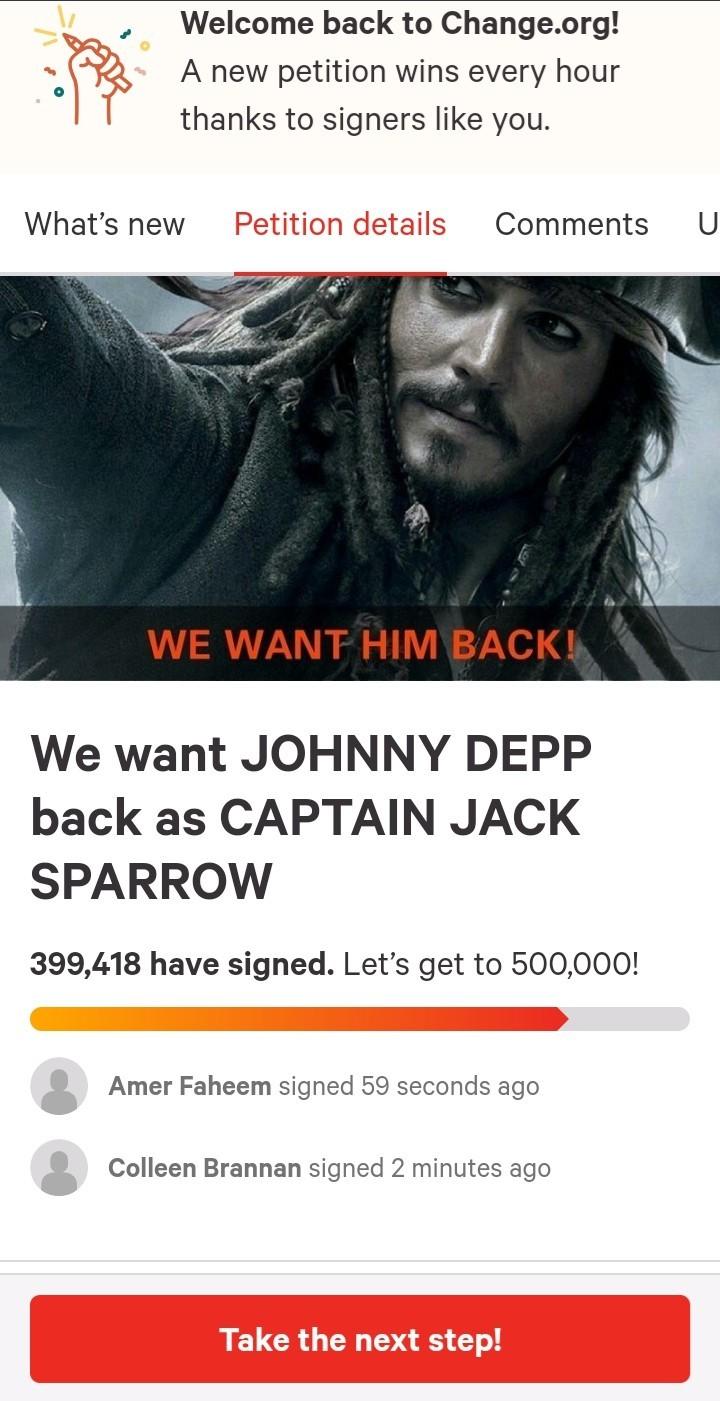 Helluva lot of petitions for Depp lately! - meme